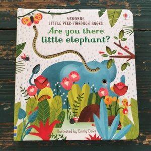 Usborne Little Cut OUt Elephant Board Book NEW